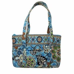 Vera Bradley Bali Blue Tote Shoulder Bag Floral